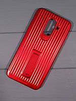 Чехол-накладка Luggage c подставкой Samsung A6 (2018) (Красный)