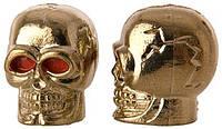 Колпачок для камеры TW V-20 в виде черепа из пластика. Золотистого цвета. В комплекте 4шт. Автомобильного стан