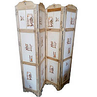 Ширма 185*41*4 створки китайский орнамент, ясень 29317