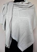 Стильный женский палантин из натурального шёлка