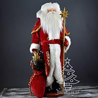 Дед Мороз под елку  53 см в красной шубе с золотым узором 0568