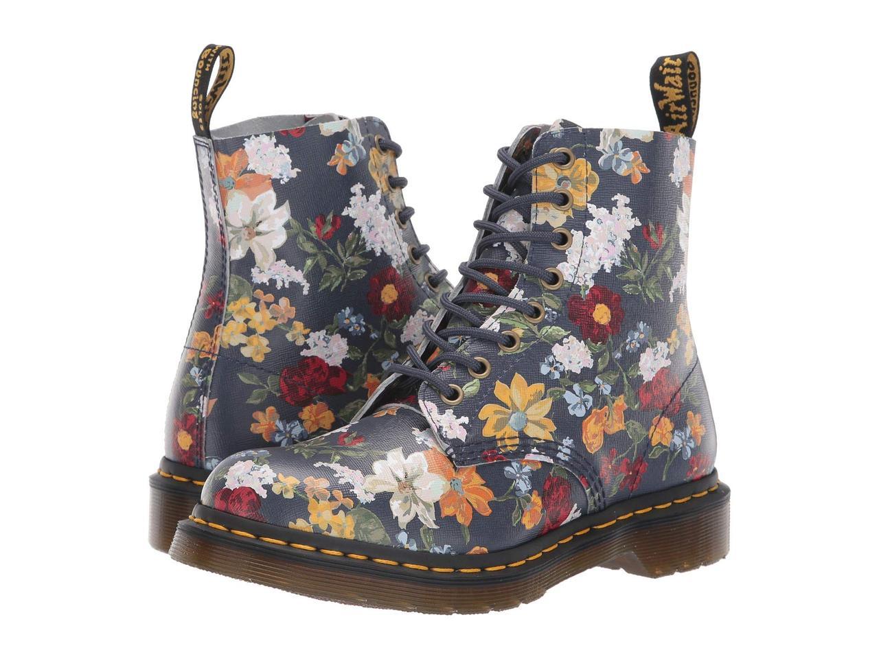 Ботинки Сапоги (Оригинал) Dr. Martens 1460 Pascal Darcy Floral DMS Navy  Darcy 62f538c3edd14