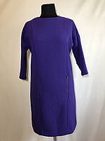 """Платье """"asos"""" (Великобритания) фиолетовое с рукавом 7/8 из плотной костюмной ткани. Размер:38(M)."""