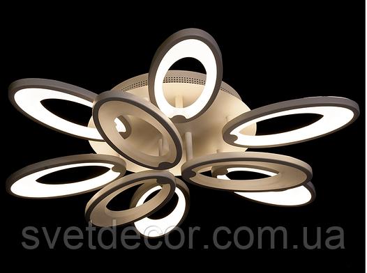 Люстра светодиодная потолочная Led 1673/6 +3 Dimmer с пультом чёрная