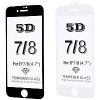 Защитное стекло FULL SCREEN 5D для Apple iPhone 7/8 (2 цвета)