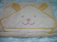 Полотенце с капюшоном  Медвежонок для купания новорожденных