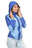 Куртка-ветровка для беременных и слингоношения 3в1, синяя с голубым., фото 4