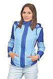 Куртка-ветровка для беременных и слингоношения 3в1, синяя с голубым., фото 5