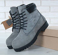 8f4d0c42 Timberland 6 inch Grey Boots (с мехом) | ботинки мужские и женские; серые