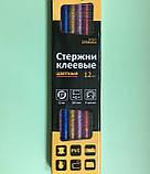 Набор (12 шт) цветных клеевых стержней, диаметр 8 мм, длина 20 см, фото 3
