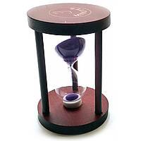 Часы песочные 3 мин фиолетовый песок 7х7х10см 32107B