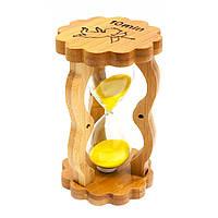 Часы песочные в бамбуке 10 мин 14,5х8,5х5,5 см 29515