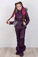 Детский зимний теплый костюм куртка+брюки плащевка синтепон 200 флис рост:116,122,128,134,140,146, фото 1