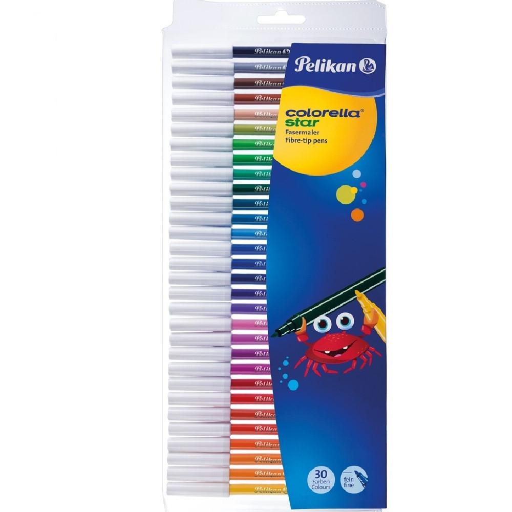 Фломастеры Pelikan Colorella Star Fine 30 цветов стержень 0.8мм (904854)