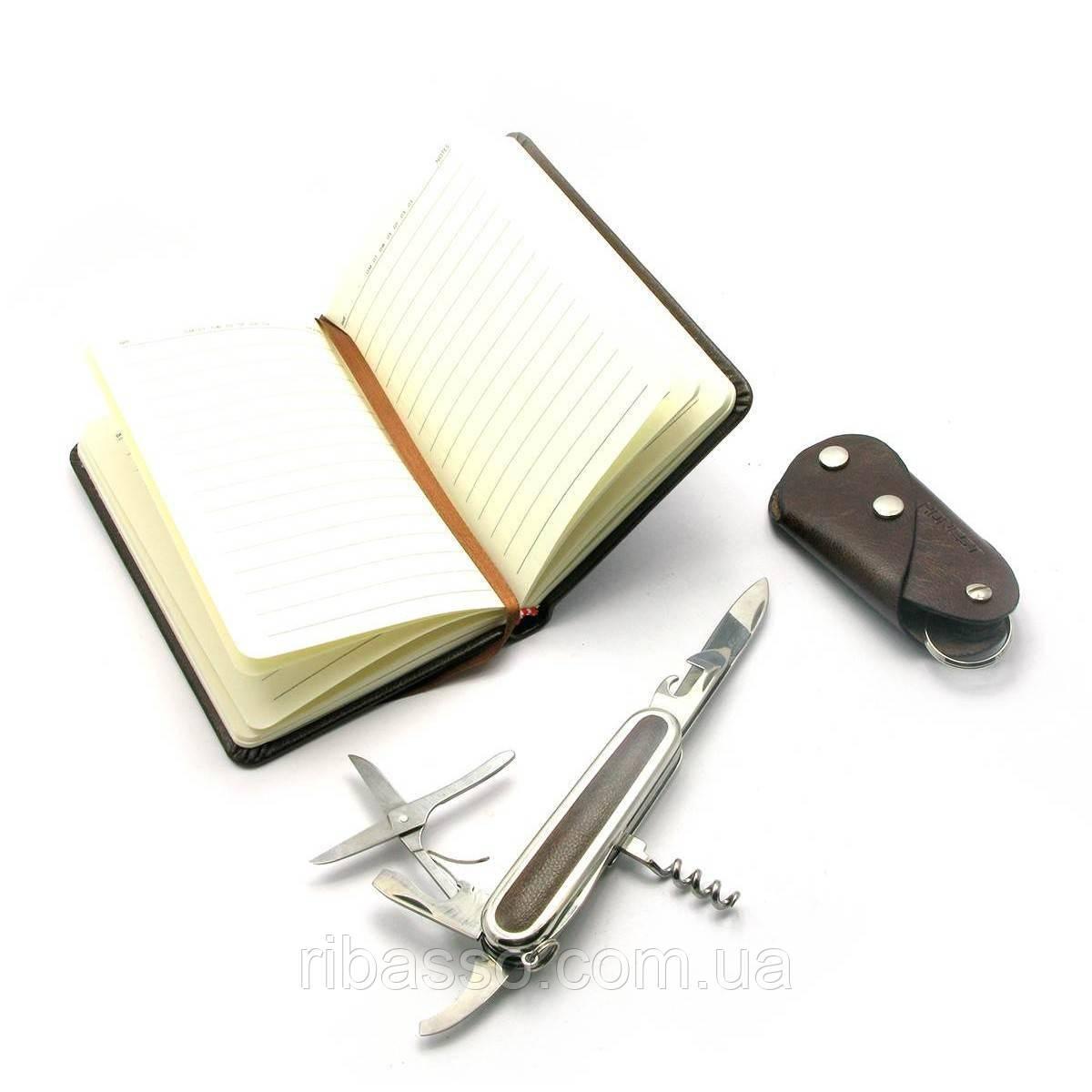 Подарунковий набір Ніж,записна книжка,ключниця 24х17х4 см 27178