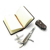 Подарочный набор Нож,записная книжка,ключница 24х17х4 см 27178