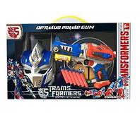 Игровой набор бластер, маска, поролоновые снаряды Shantou Transformers Оптимус