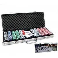 Покерный набор в кейсе 2 колоды карт +500 фишек 57х21х7 см вес фишки 4 гр. d-39 мм 23093