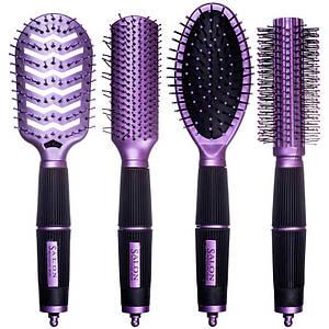 Набір гребінців для волосся Bo Hua Style Salon №W-17, 4шт