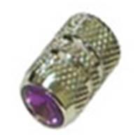 Колпачок для камеры TW V07 сереб. цвета  с диамантом красн.цвета. В комплекте  4шт. Автомобильного стандарта.