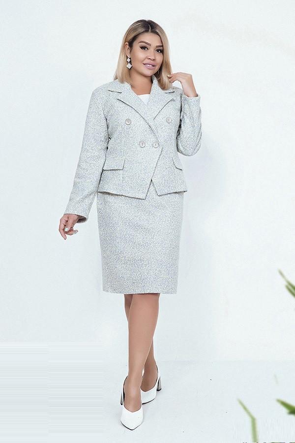 Брендовый элегантный женский костюм Юбка и Пиджак 03878