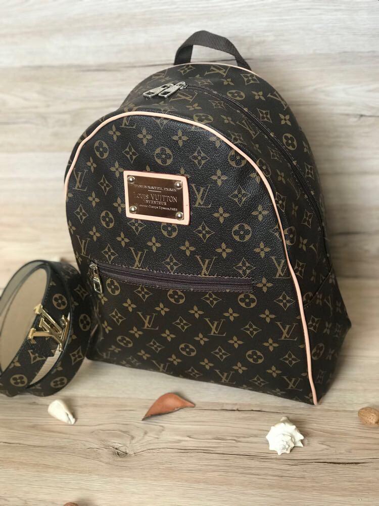 Стильный Рюкзак LV Louis Vuitton (реплика Луи Витон) Vintage Brown -  Планета здоровья интернет 86b7e31018b