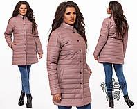 Зимнее пальто на кнопках. Капучино, 4 цвета. Р-ры: 48,50,52,54,56.