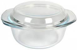 Кастрюля стеклянная круглая V=1500мл с крышкой