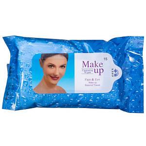 Вологі серветки для зняття макіяжу Fulya make up, 15шт