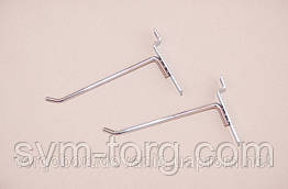 Крючок хромированный на эконом панель,5 см. (6мм.)
