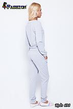 Жіночий сірий спортивний костюм Аргайл, фото 3