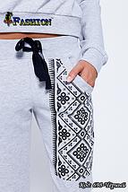 Жіночий сірий спортивний костюм Аргайл, фото 2