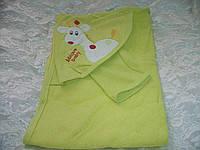 Полотенце с капюшоном Жирафик для купания новорожденных