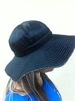 шляпа с большими  полями из  стёганной плащёвки