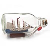 Парусник в бутылке 11,5х6,5х5,5 см 32119