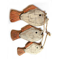 Рыбы связка 3шт дерево 20х11х6,5 см 28548