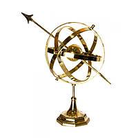 """Сфера на подставке """"Гороскоп"""" бронза 45х24,5х35 см 24504"""