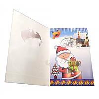 "Открытка музыкальная с конвертом ""Merry Christmas"" 19х13 см 32182"