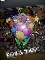Шар НВ сюрприз с шарами, надутый гелием