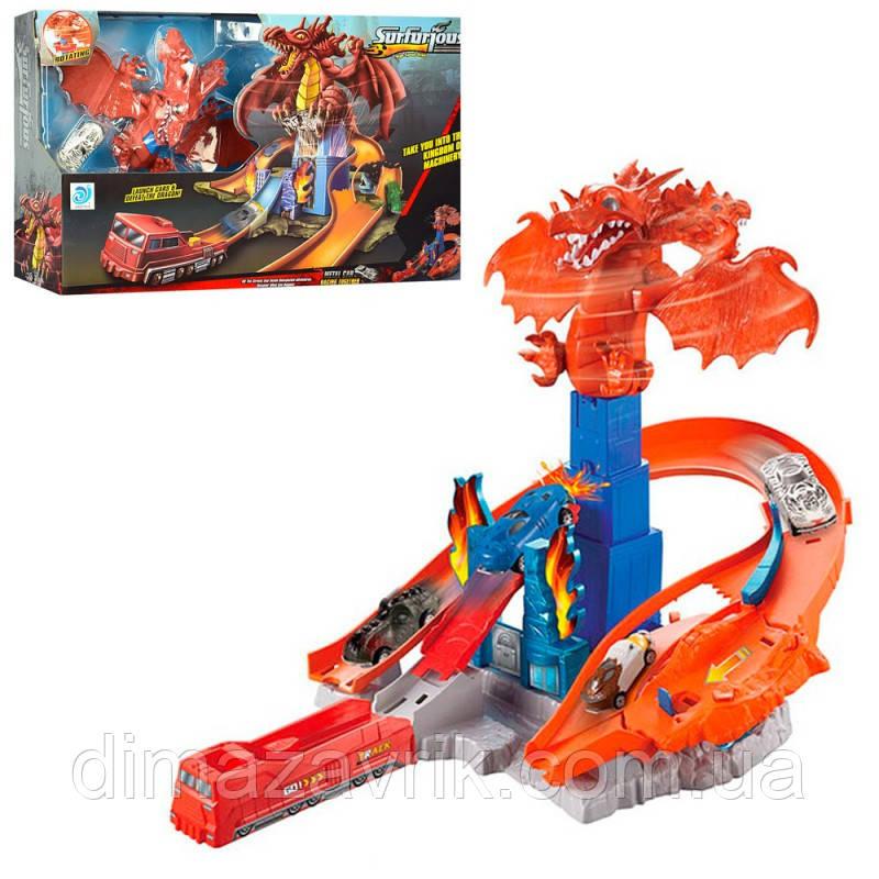 Трек 9988-1 дракон, машинка 7 см, в коробке56-35-13 см