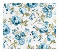 Крупные розы голубой