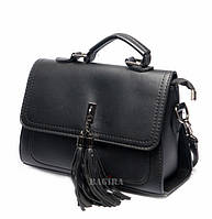 Женская сумка-клатч из кожзаменителя  с кисточкой