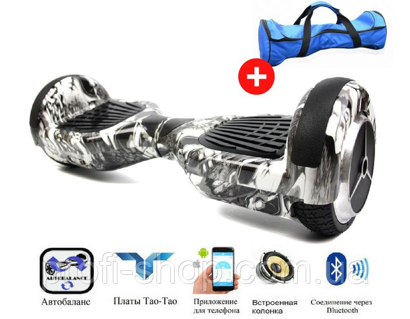 Гироскутер Smart Balance 6,5 Skulls (черепа) Максимальная комплектация