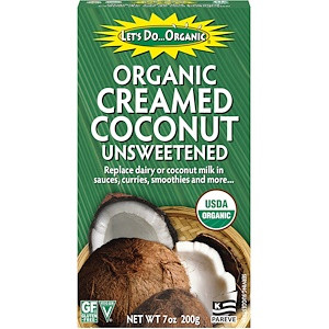 Органические кокосовые сливки без сахара 200г Edward & Sons