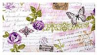 Розы и бабочки сиреневый