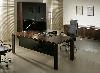 """Стол руководителя с тумбой и стеклянным экраном топаз """"Квадро"""", фото 2"""
