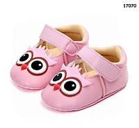 """Пинетки-туфли """"Совы"""" для девочки. 11, 12 см"""
