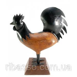 Петух деревянный +металл 37х28х10 см 1228