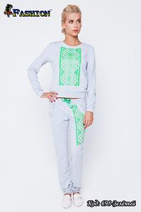 Женский зелёный спортивный костюм Аргайл