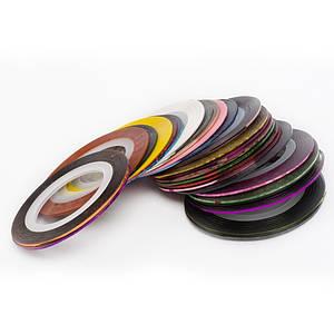 Стрічка для манікюру metalic yarn